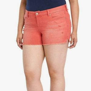Torrid Shorts Plus Size 24W Red Wash